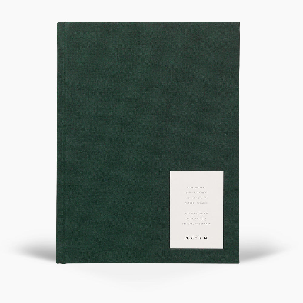 NOTEM Even Work Journal, Large - Dark Green - NOTEM studio