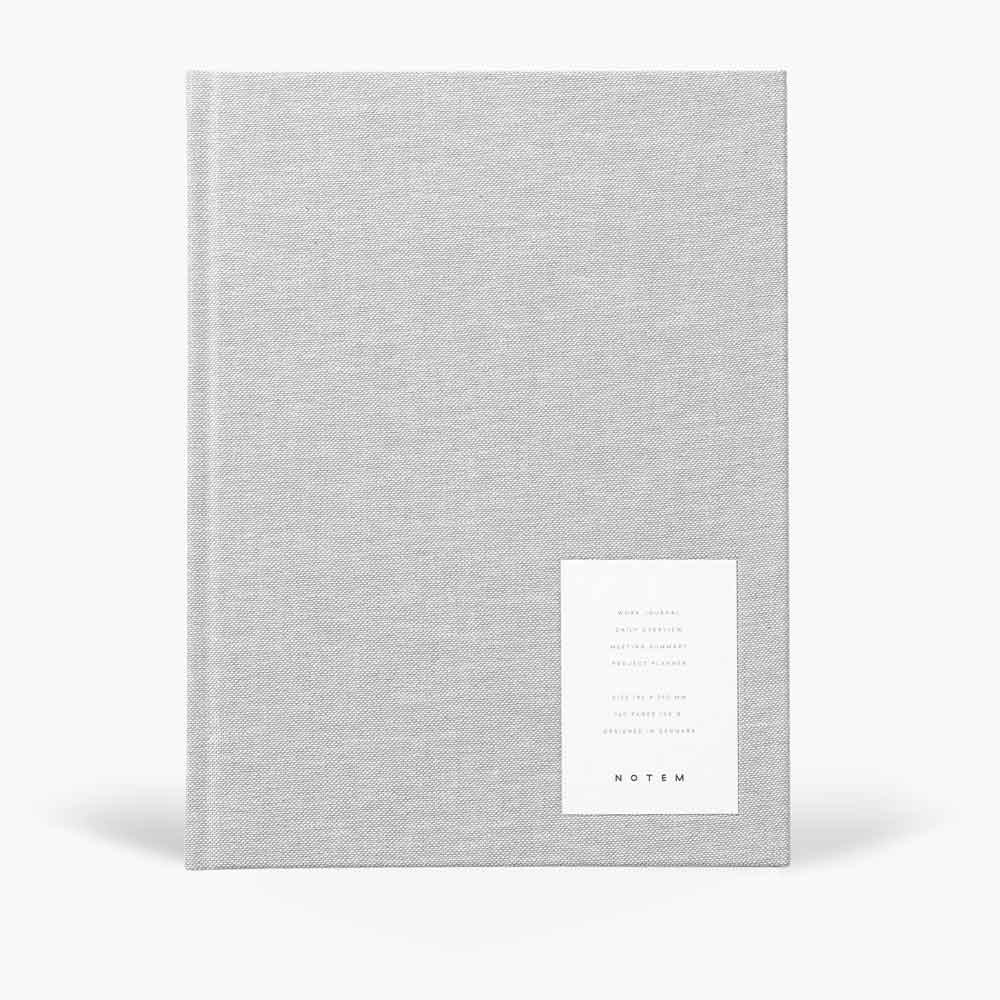 NOTEM Even Work Journal, Large - Light Gray - NOTEM studio