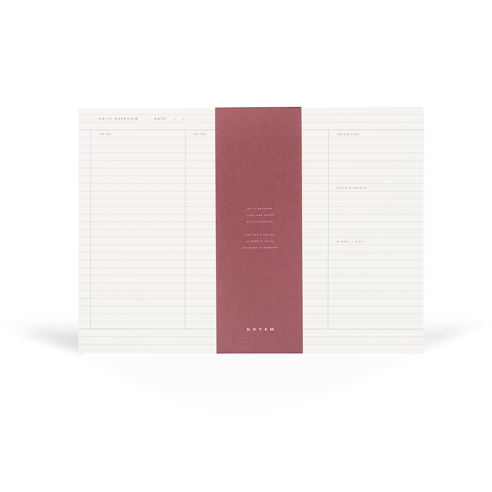 MILO Daily Planner Notepad - NOTEM studio
