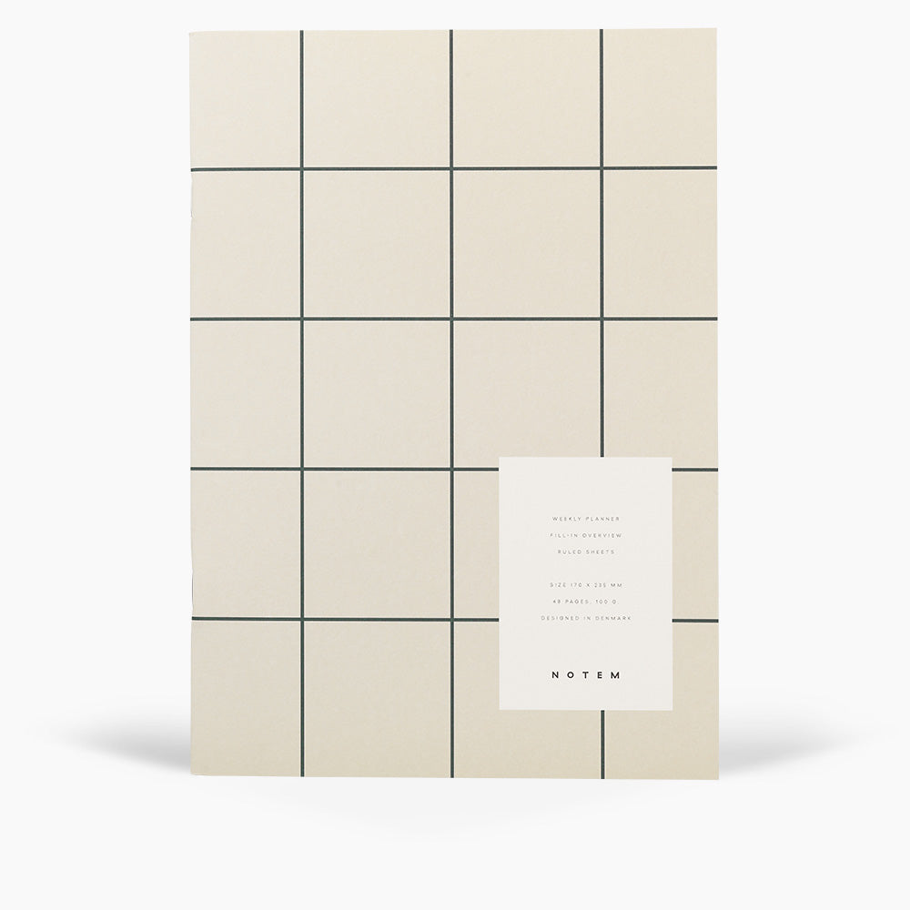 MILO Weekly Planner Book, Light Gray - NOTEM studio