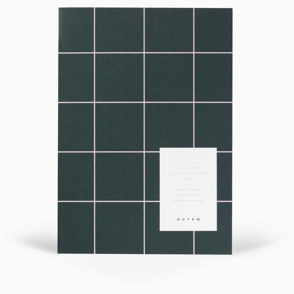 NOTEM Milo Weekly Planner Book - Dark Green - NOTEM studio
