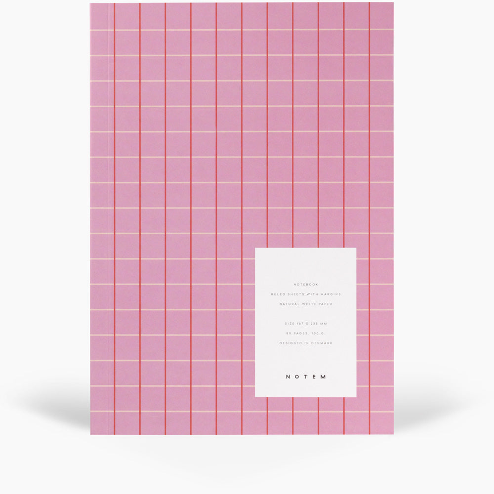 NOTEM Vita Notebook, Medium - Rose Grid - NOTEM studio