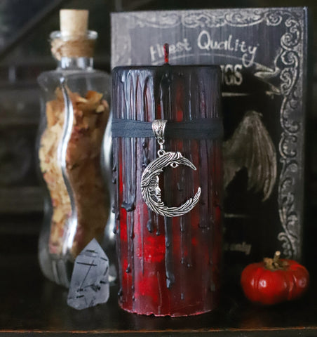 Blood moon candle