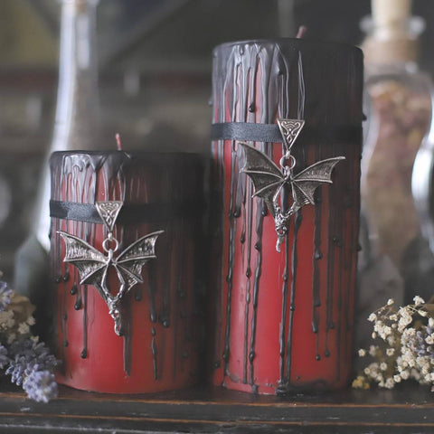 halloween decoration, Curiosity candle, vampire bat lover vampire blood candle, classic horror fan, goth decor, horror, macabre, spooky