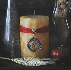 Brisingamen ritual and spell candle, Celtic knot, Norse Mythology pillar candle, Norse Pagan gifts, Magick Candle, Nordic and heathen,