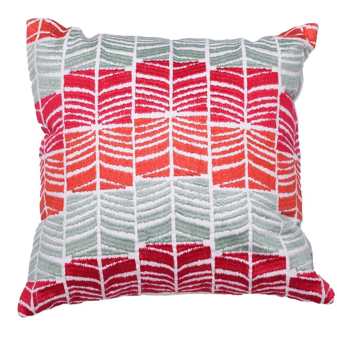 Pink Waves Cushion - Woven Riches