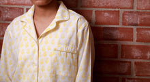 Yellow Block Print Floral Pyjamas - Woven Riches NI