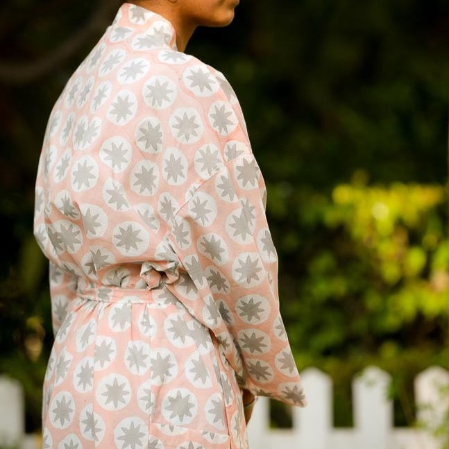 Anvi Block Printed Robe - Woven Riches