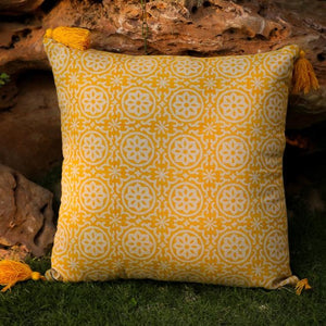 Uri Block Printed Cushion - Woven Riches NI