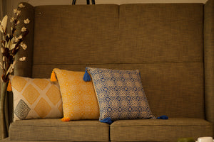 Ari Block Printed Cushion - Woven Riches