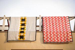 Aahana Block Printed Scarf - Woven Riches NI