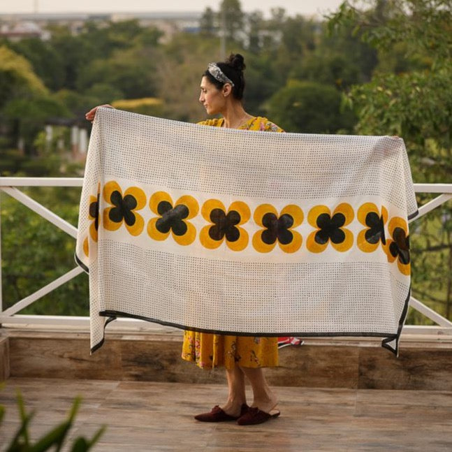 Aahana Block Printed Scarf - Woven Riches