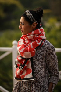 Damini Hand Block Printed Scarf - Woven Riches