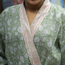Kesar Block Printed Robe - Woven Riches