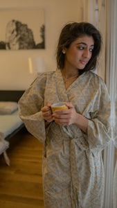 Aditi Block Printed Robe - Woven Riches