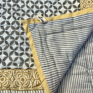 Mason Quilted Reversible Throw - Woven Riches