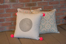 Coral Hand Block Printed Cushion - Woven Riches