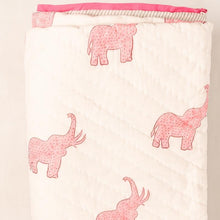 Gulabi Elephant Quilted Throw - Woven Riches