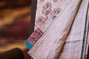 Turquoise Swirl Kantha Throw - Woven Riches