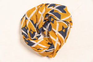Naina Hand Block Printed Scarf - Woven Riches