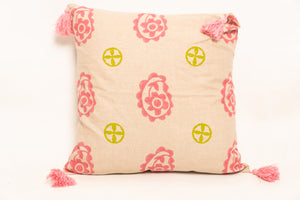 Hara Block Printed Cushion - Woven Riches