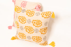 Henna Block Printed Cushion - Woven Riches NI