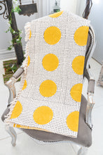 Gauri polka dot handprinted throw - Woven Riches