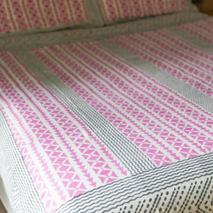 kamna printed reversable cotton duvet