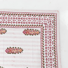 White and red Kantha - Woven Riches
