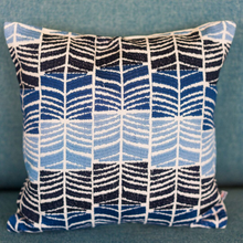 Blue Waves Accent Cushion - Woven Riches NI