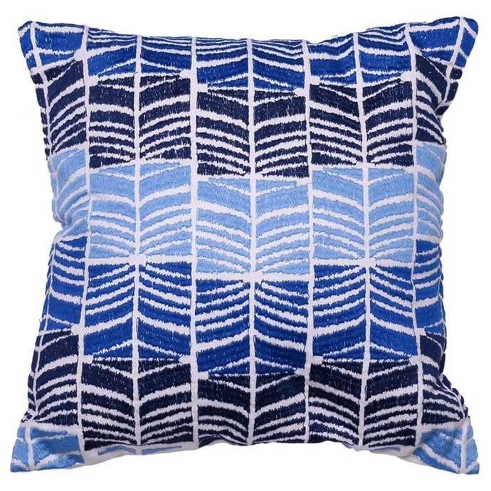 Blue Waves Accent Cushion - Woven Riches