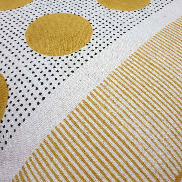 Gauri polka dot handprinted throw