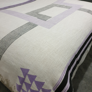 Lya Lilac and Black Geometric Throw - Woven Riches