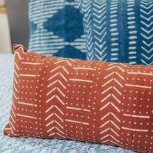 Elle Block Printed Cushion - Woven Riches NI