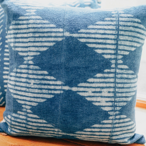 Moka Block Printed Cushion - Woven Riches