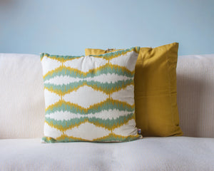 Mustard Pure Cotton Cushion - Woven Riches