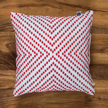 Dots Accent Red Cushion