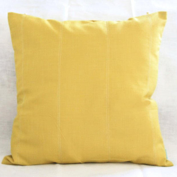 Mustard Pure Cotton Cushion - Woven Riches NI