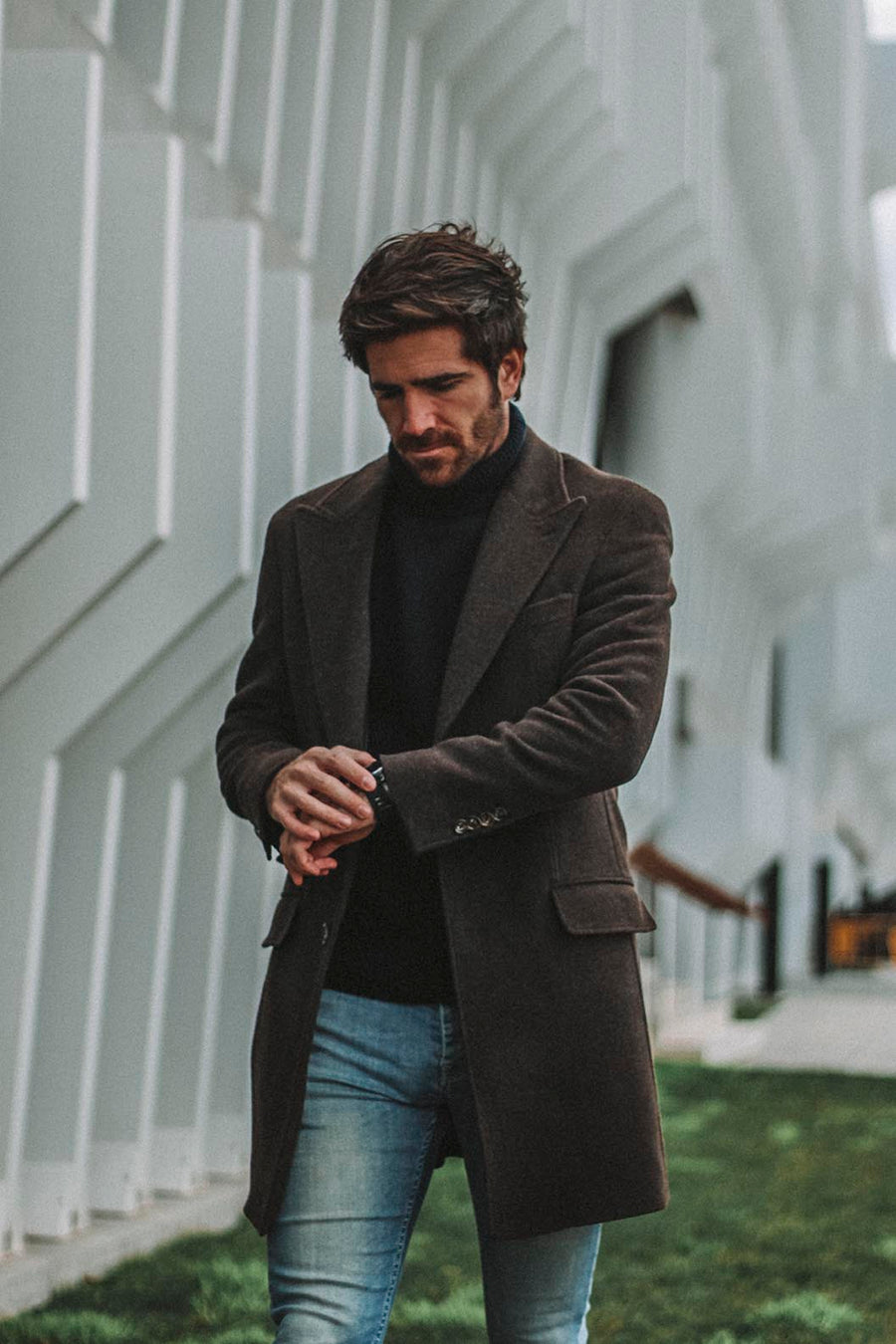 Brown Sartorial Coat Punta de Lanza