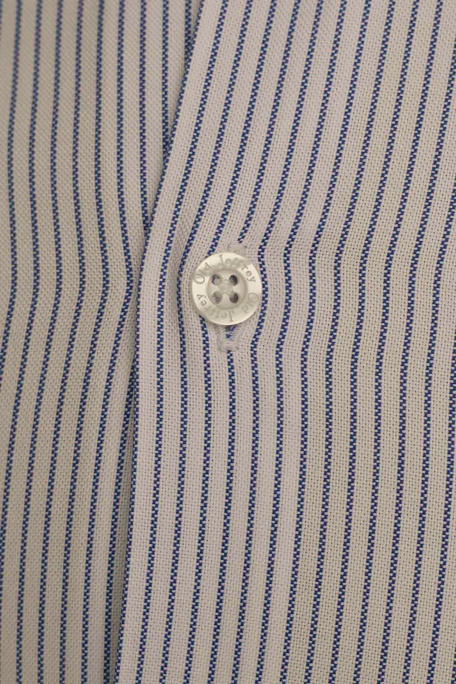 White Dress Shirt Indigo Blue Stripe Without Cufflinks
