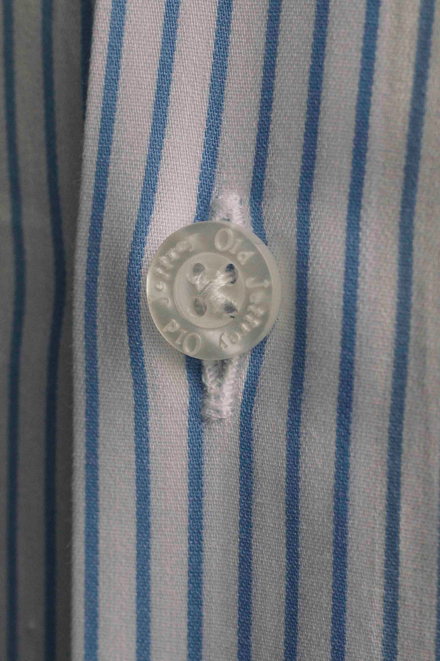 White Dress Shirt Fine Blue Stripe Without Cufflinks