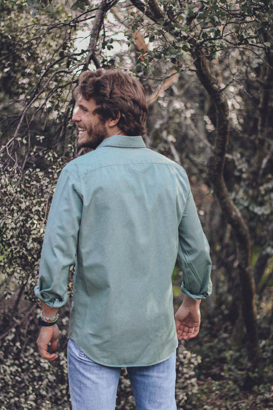 Sage Green Cotton Shirt