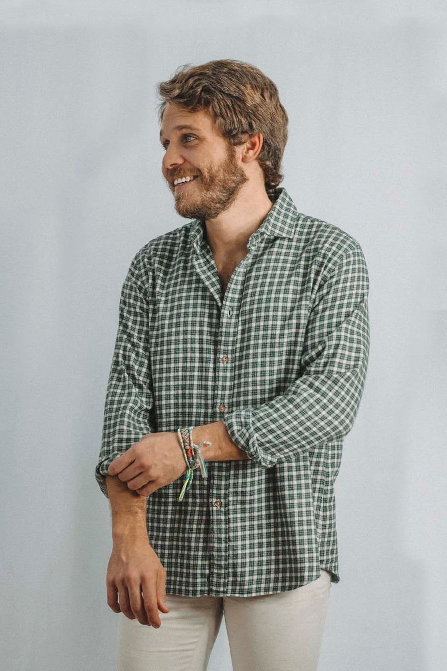 Flannel Shirt Green Floresta Plaid