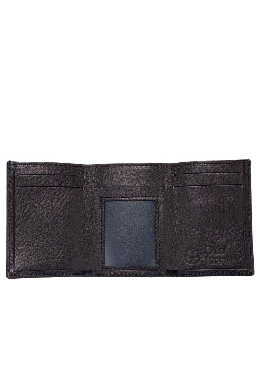 Brown Leather Wallet With Red Elastic