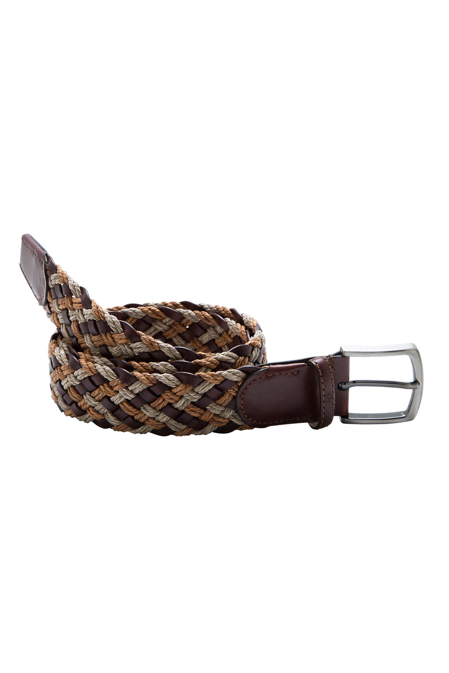 Braided Leather and Jute Belt