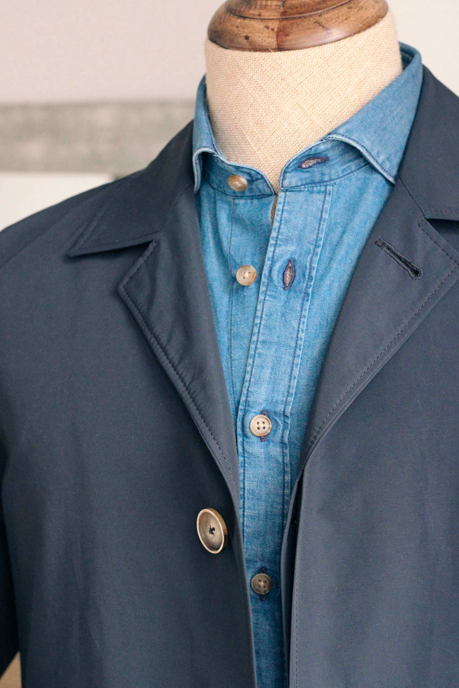 3/4 Trench Coat Navy blue