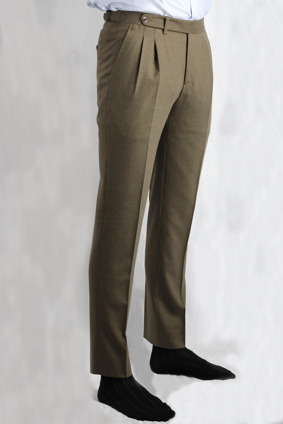 Chestnut Brown Dress Pants Double Gripper