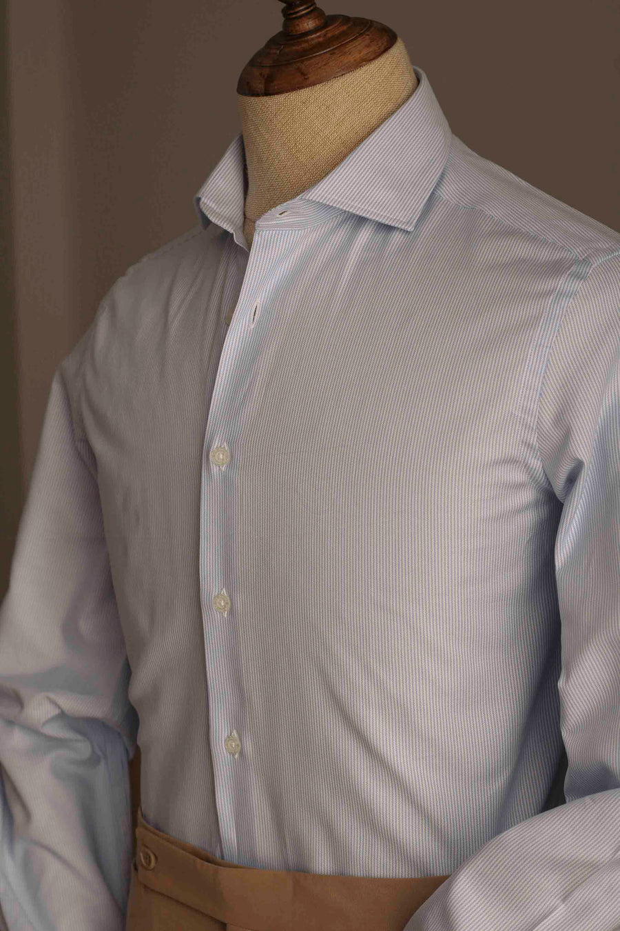 Blue Thousand Stripes Dress Shirt Without Cufflinks