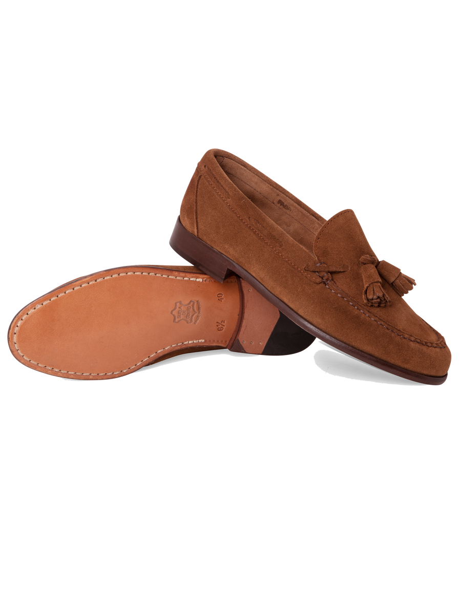 Moccasin High Shovel Brown Suede Without Lining