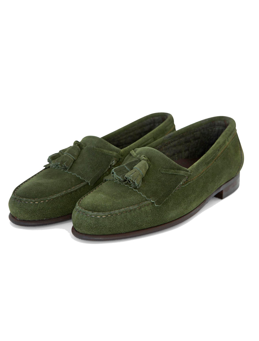 Low-Top Loafer Suede Juniper Green